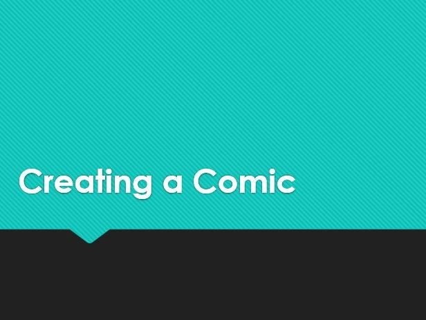 Creating a Comic Strip unit of work (Photoshop)