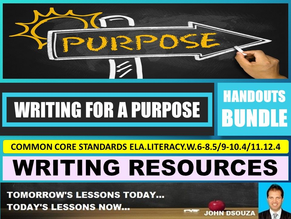 WRITING FOR A PURPOSE HANDOUTS BUNDLE