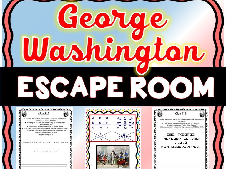 George Washington Escape Room - No Prep!