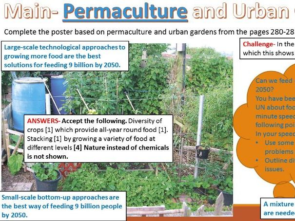 2017-18 Year 11 OCR B syllabus: Resource Reliance 10) Small scale approaches to food security