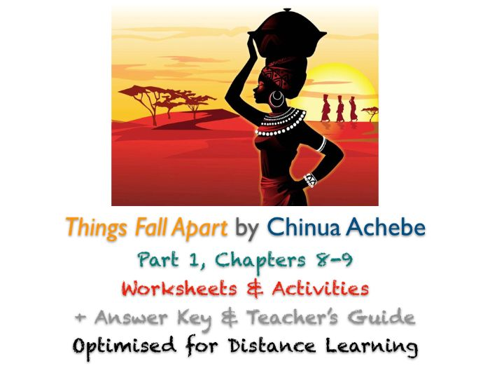 Things Fall Apart (Chinua Achebe) Ch. 8-9 - Allusions - Activities + ANSWERS
