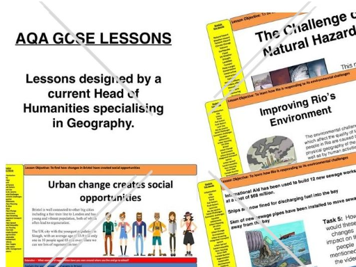 FREE 21 lessons - Urban Issues and Challenges Rio and Bristol AQA geography Full Scheme/Unit of Work