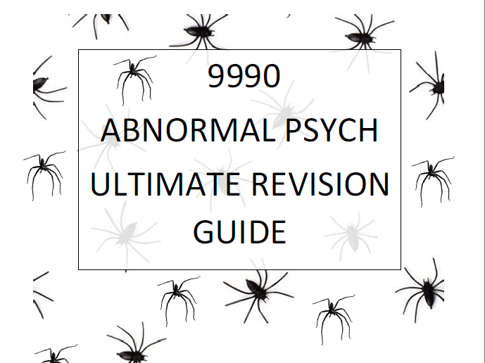 A2 Abnormal Psych 9990 BEST Booklet