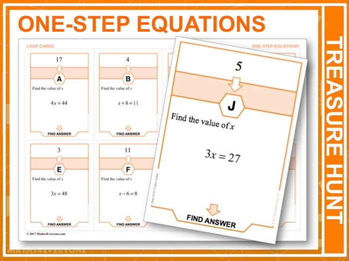 One-step Equations (Treasure Hunt)
