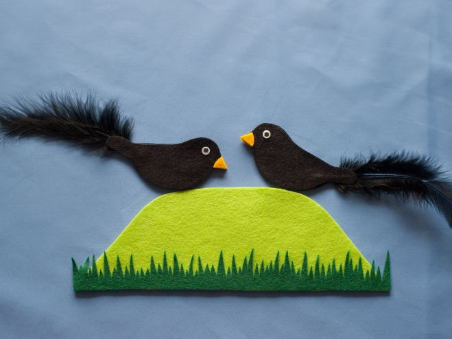 Two Little Black Birds Felt Board Pattern PDF