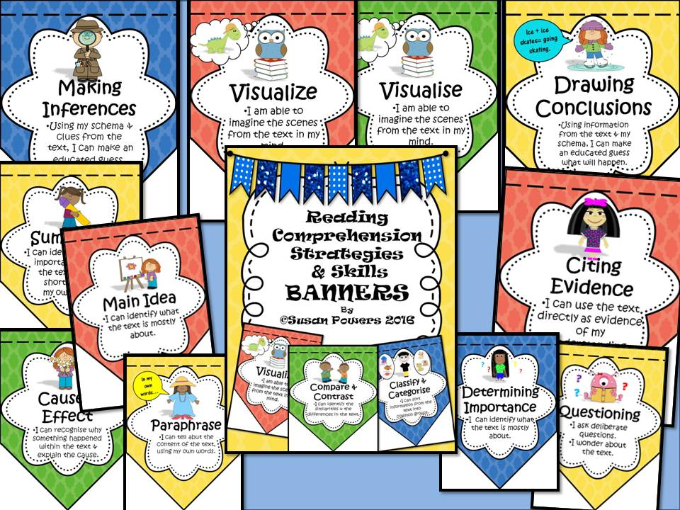 Reading Comprehension Skills Posters Bunting