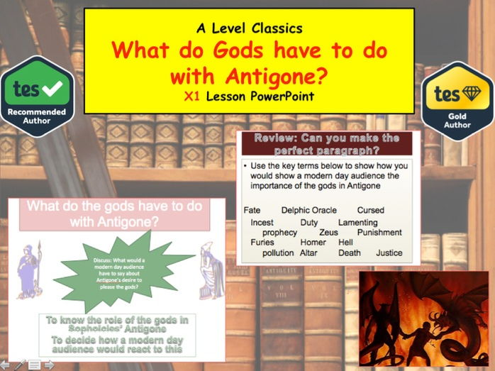 What do Gods have to do with Antigone? A level Classics