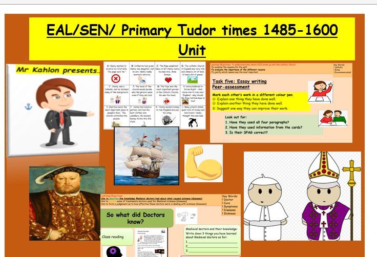 EAL/SEN/Primary Medieval Britain 1066-1650- 9 hours bundle