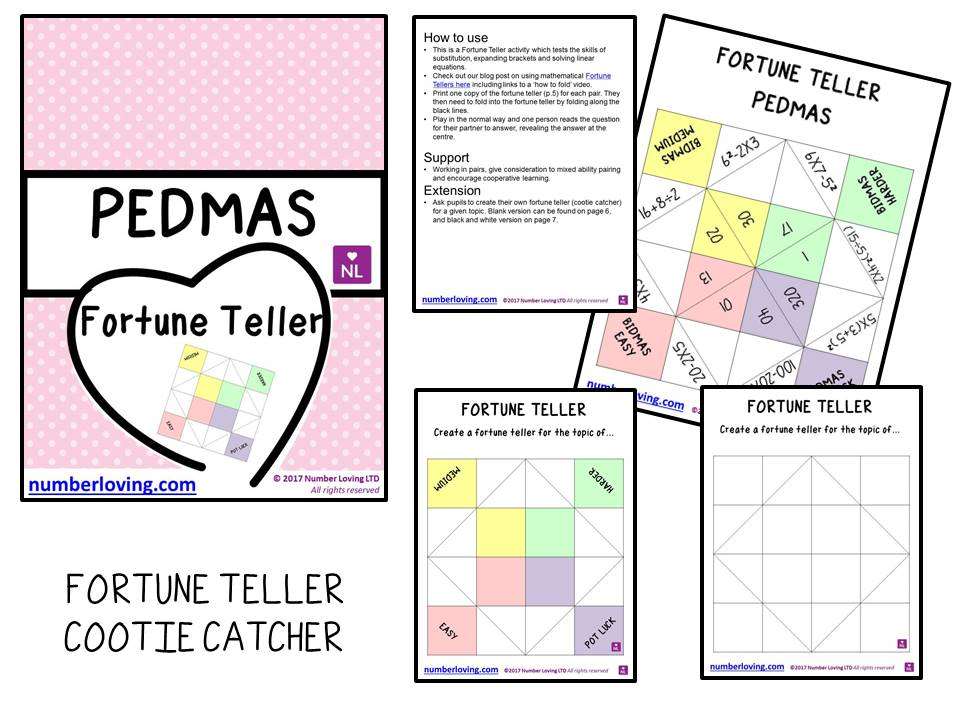 PEDMAS (Cootie Catcher)