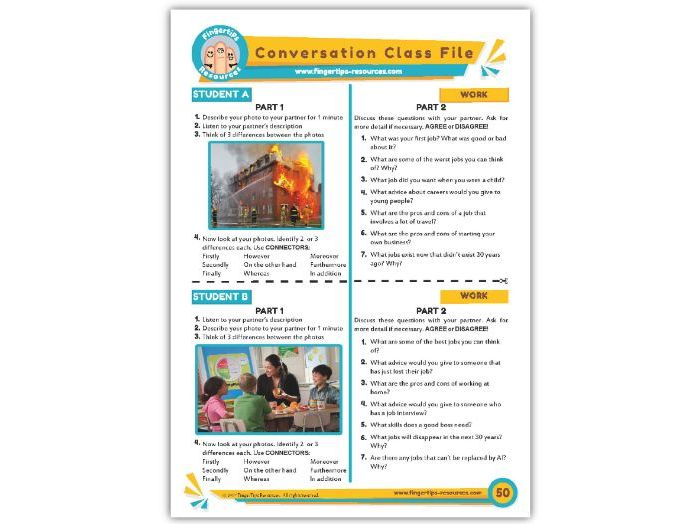 Work & Jobs - ESL Conversation Activity