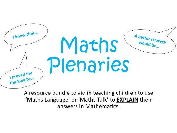 KS2: Maths Mastery Plenaries (Explaining Reasoning through 'Maths Talk')