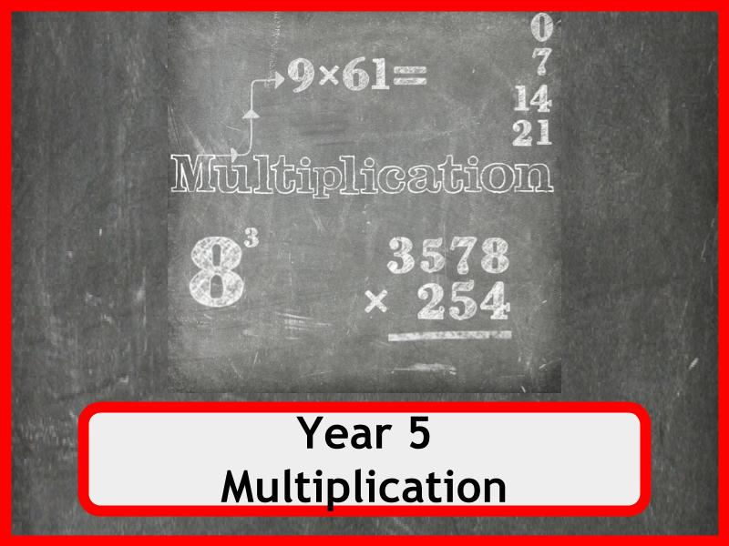 Multiplication Worksheets -  Year 5