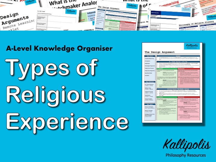 Types of Religious Experience - Knowledge Organiser