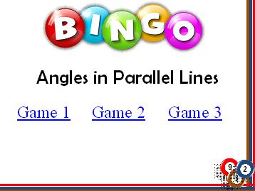 BINGO: Angles in Parallel Lines