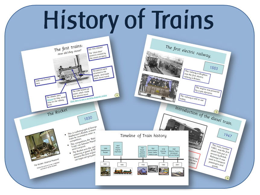 History of Trains powerpoint