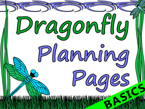 Dragonfly Themed Teacher Planning Pages Basics
