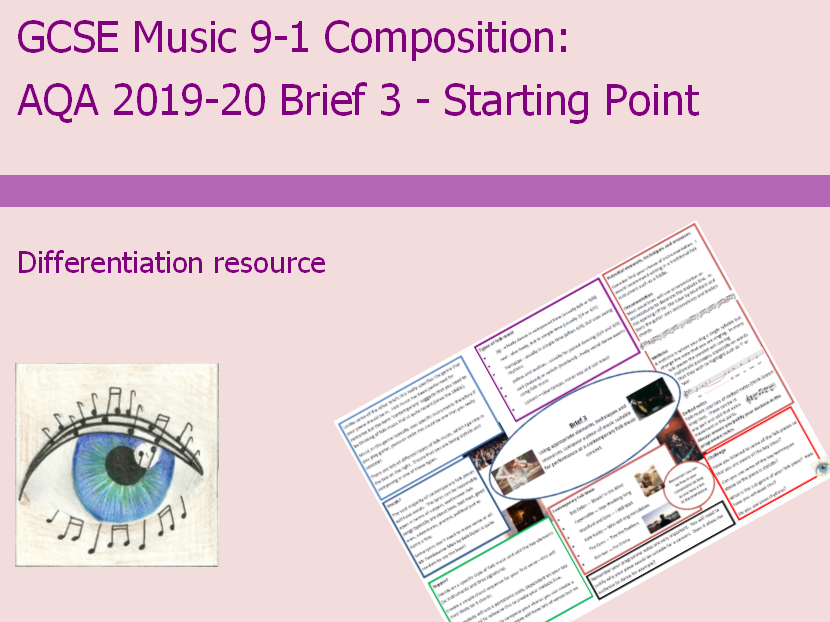 AQA Music GCSE 9-1 Composition: 2019-2020 Brief 3 Starting Point