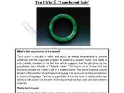 Close reading notes: analysis of Maureen Ten, 'Translucent Jade'