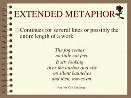 Using extended metaphor to develop language