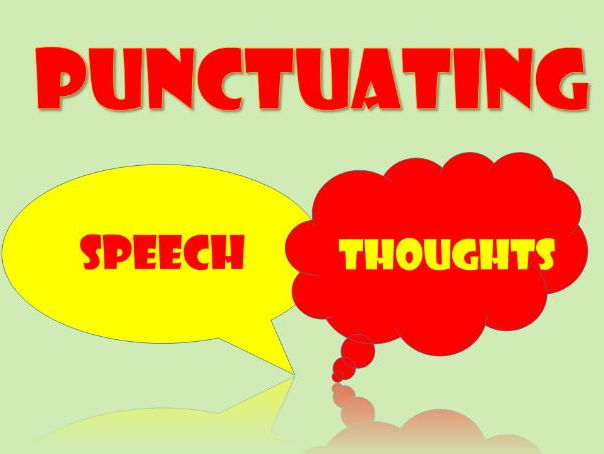 Speech Punctuation KS2/3