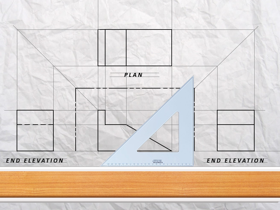 Orthographic Projection Drawing- Skate Ramp