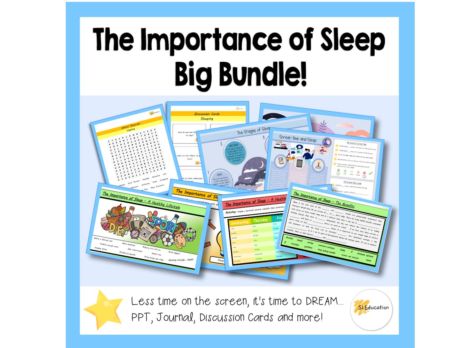 The Importance of Sleep Bundle | Big Bundle | KS3-4 | PSHE