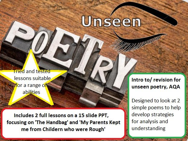 Unseen poetry revision/ intro for AQA, 2 full lessons