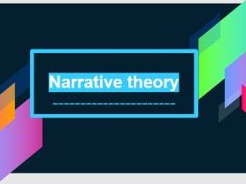 Pearson BTEC Creative Media: Exploring media products - Learning aim B - Narrative theory
