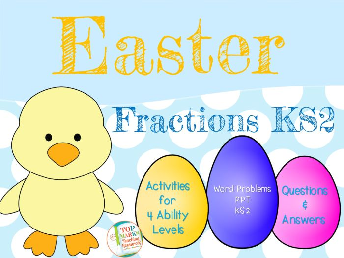 Easter Fractions KS2 Maths (Find Fractions of Amounts Word Problems)