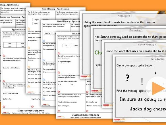 Grammar Year 3 Apostrophes 2 Autumn Block 1 Step 8 Lesson Pack
