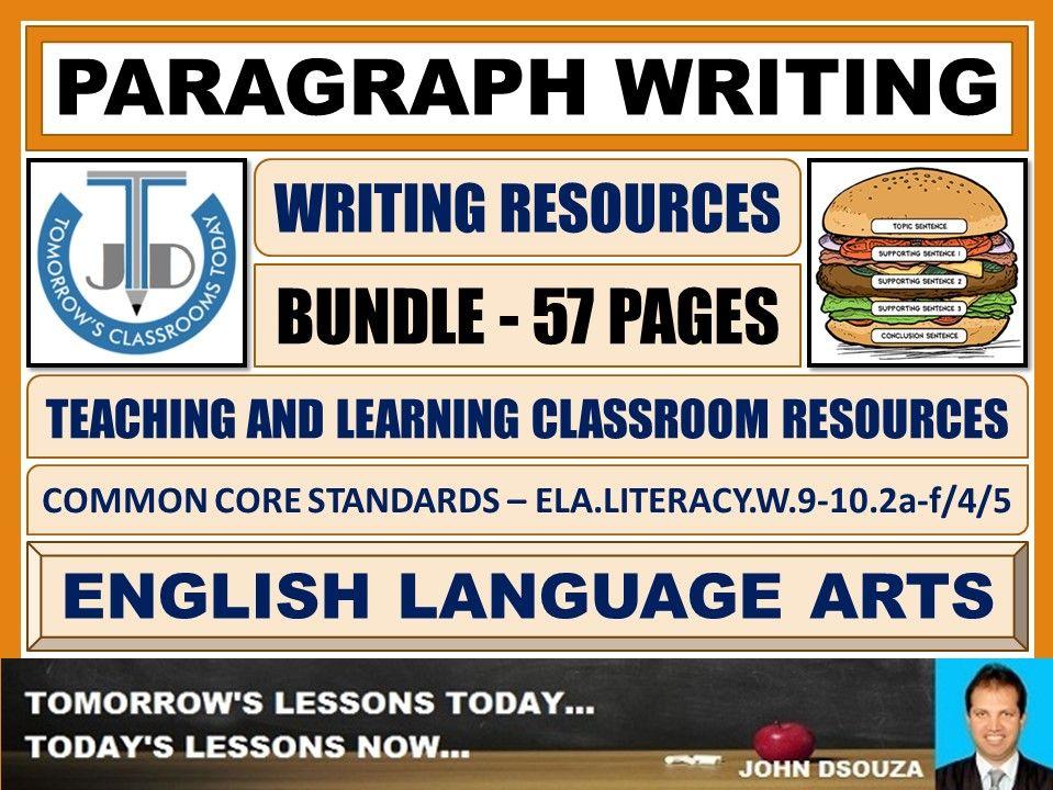 PARAGRAPH WRITING - CLASSROOM RESOURCES - BUNDLE