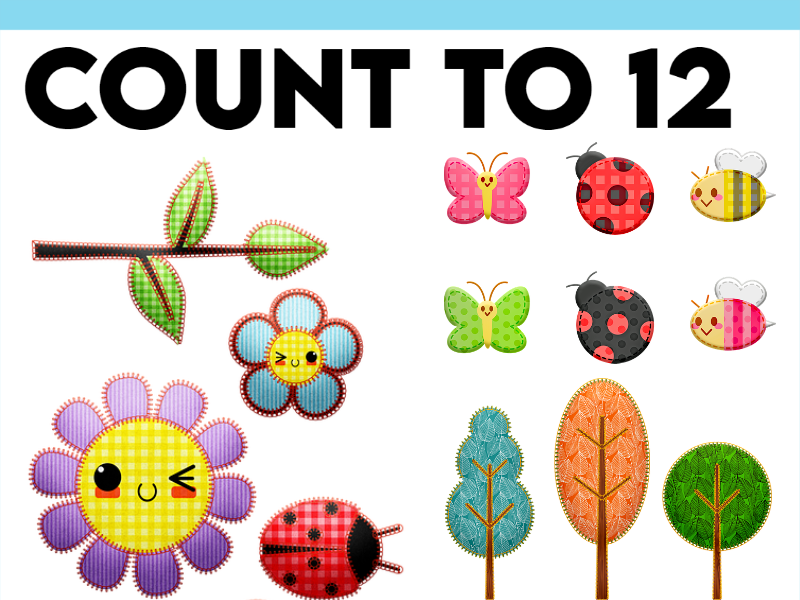 Nature Themed Counting to 12 PPT and Activity