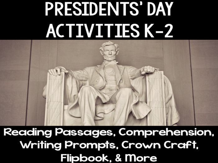 Presidents' Day Mini Unit & Activities Grades Kindergarten, First, Second K-2