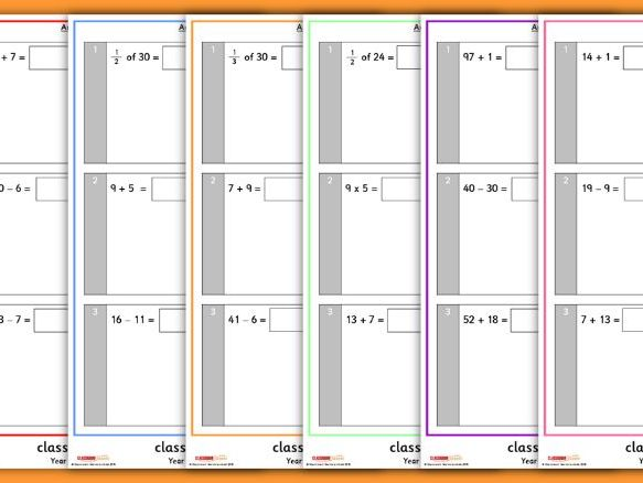 Arithmetic Tests for Year 2 Summer Term 2
