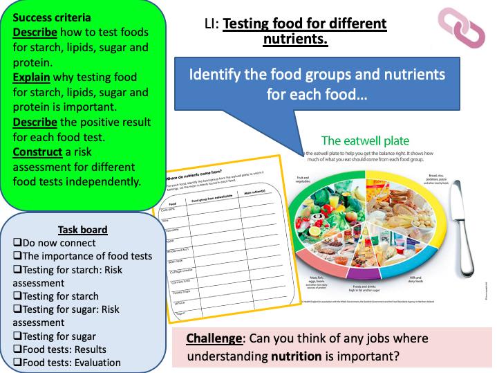 KS3 Food tests
