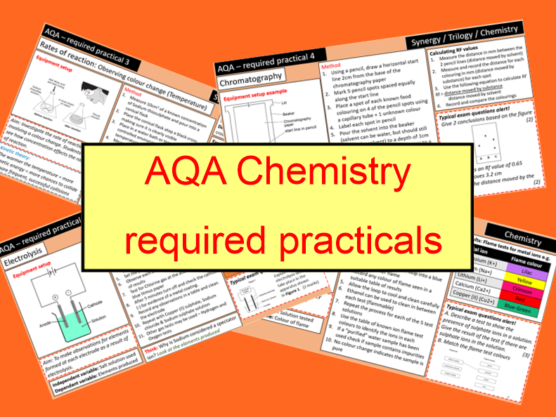 AQA Chemistry required practicals (ALL)