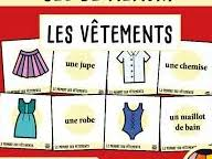 Clothes covering three tenses (Past, present and  future) in a series of three lessons.