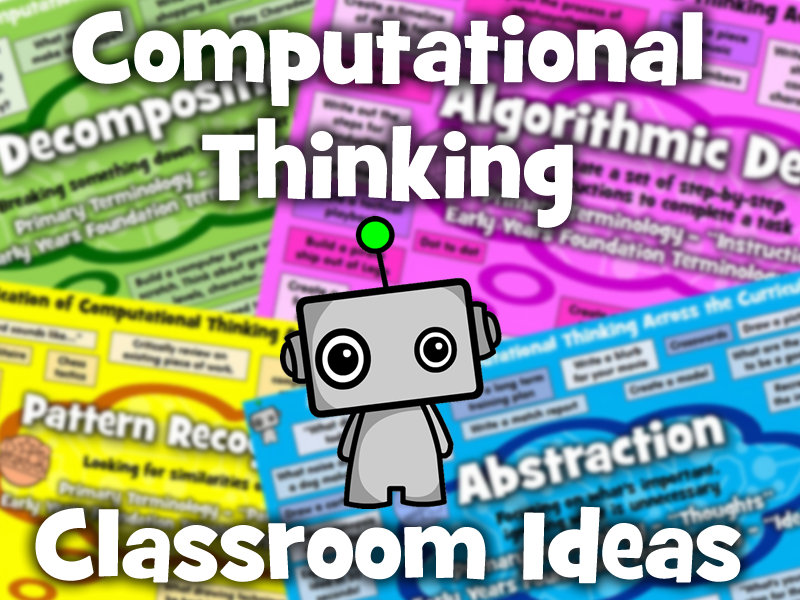 Computational Thinking Classroom Ideas Posters