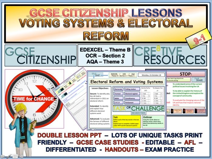 Electoral Voting Systems and Electoral Reform GCSE Citizenship 9-1