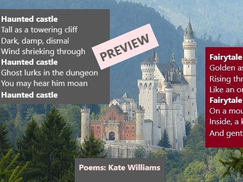 Castle Poems With Repetition (+ Frame)