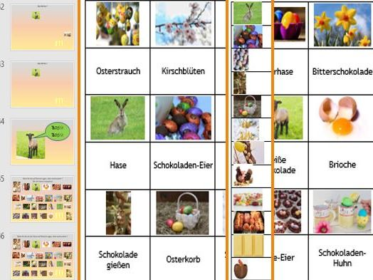 Ostern Easter German Activities: presentation, cue cards, matching up cards, sequencing cards