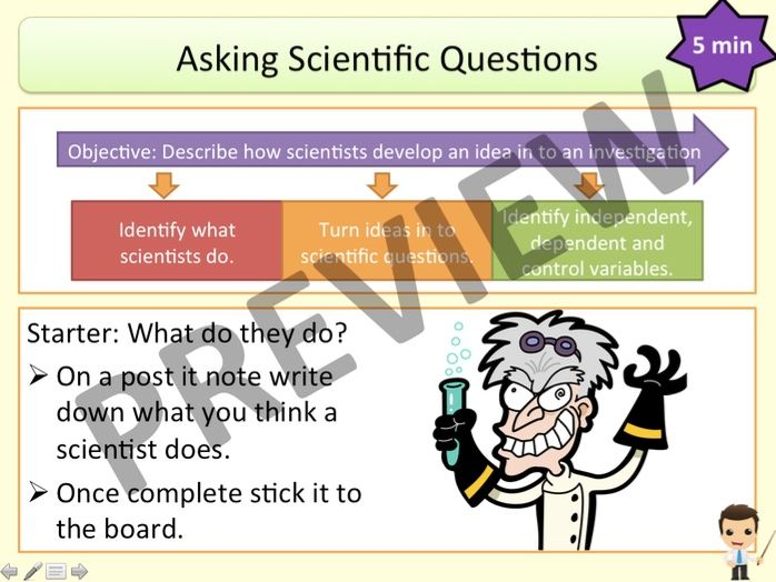 Working Scientifically: Asking Scientific Questions (KS3 Activate)