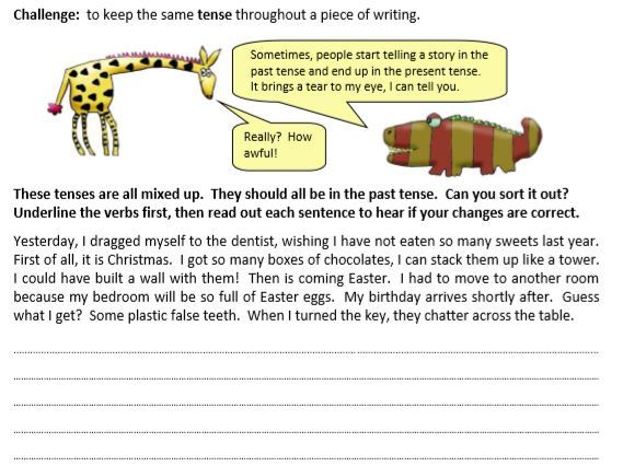Year 3 Grammar, English/Literacy, Tenses Worksheets