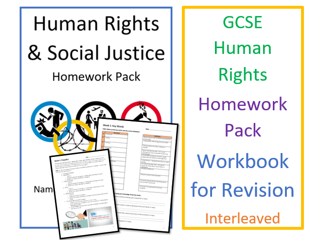 GCSE RS Human Rights & Social Justice Homework Pack - Revision Workbook