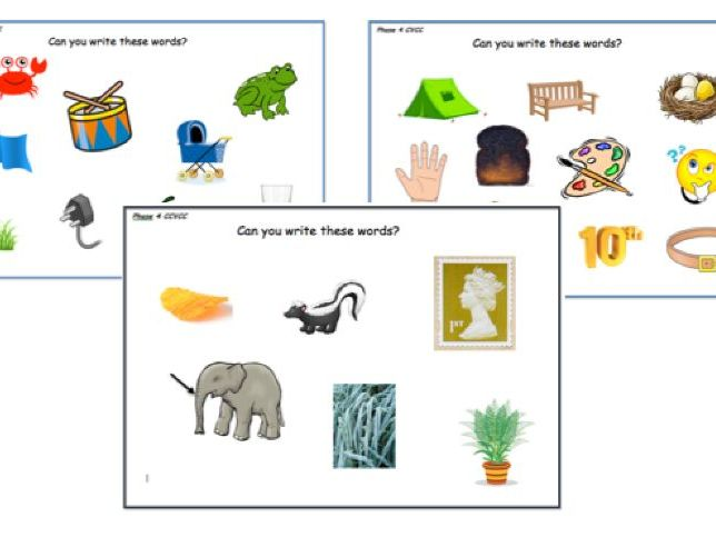 Year 1- Phase 4 CVCC  CCVC CCVCC picture mats- Can you write these words?
