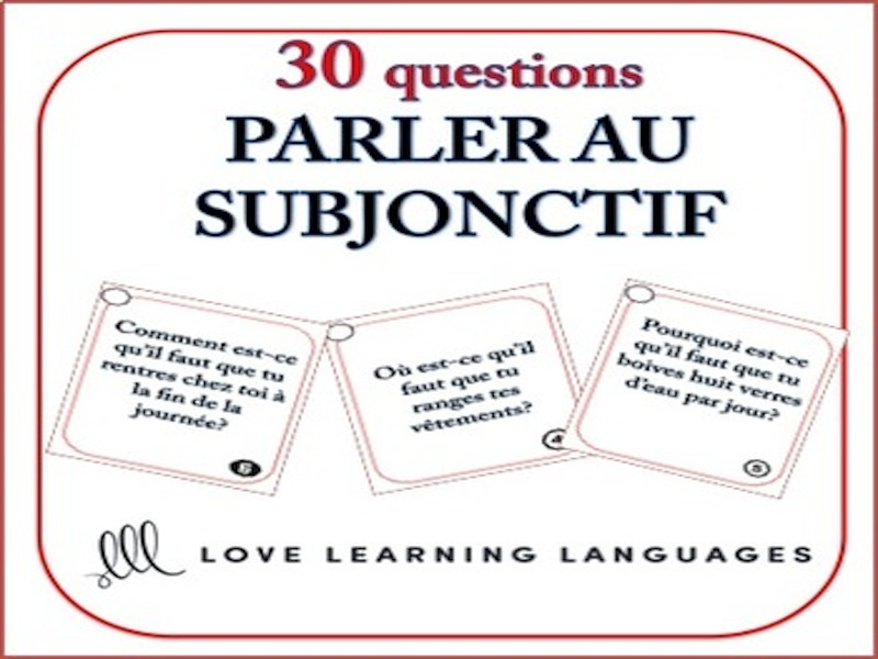 GCSE FRENCH: French Subjunctive Speaking Task Cards