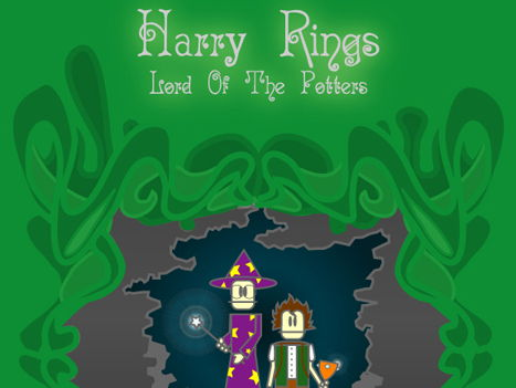 Sample pages of Harry Rings, Lord of the Potters play script
