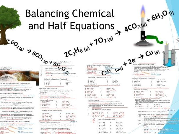 Balancing Full and Half Equations inc Method and 9-1 Graded Questions and Answers