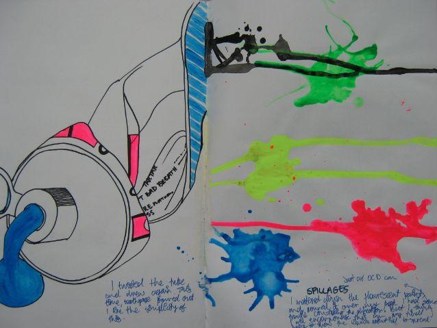 GCSE Art & Design sketchbook example