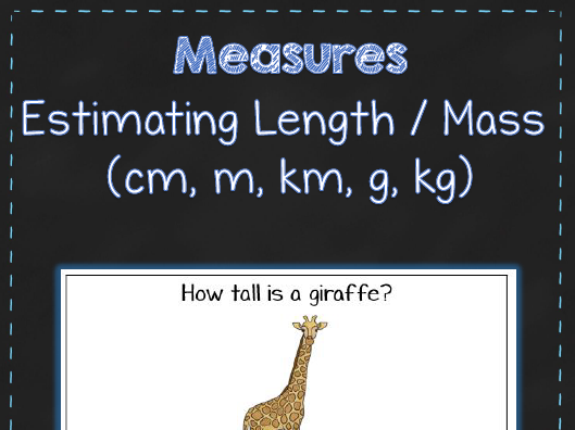 Estimating Length & Mass - Metric - Measurement - Maths Activity